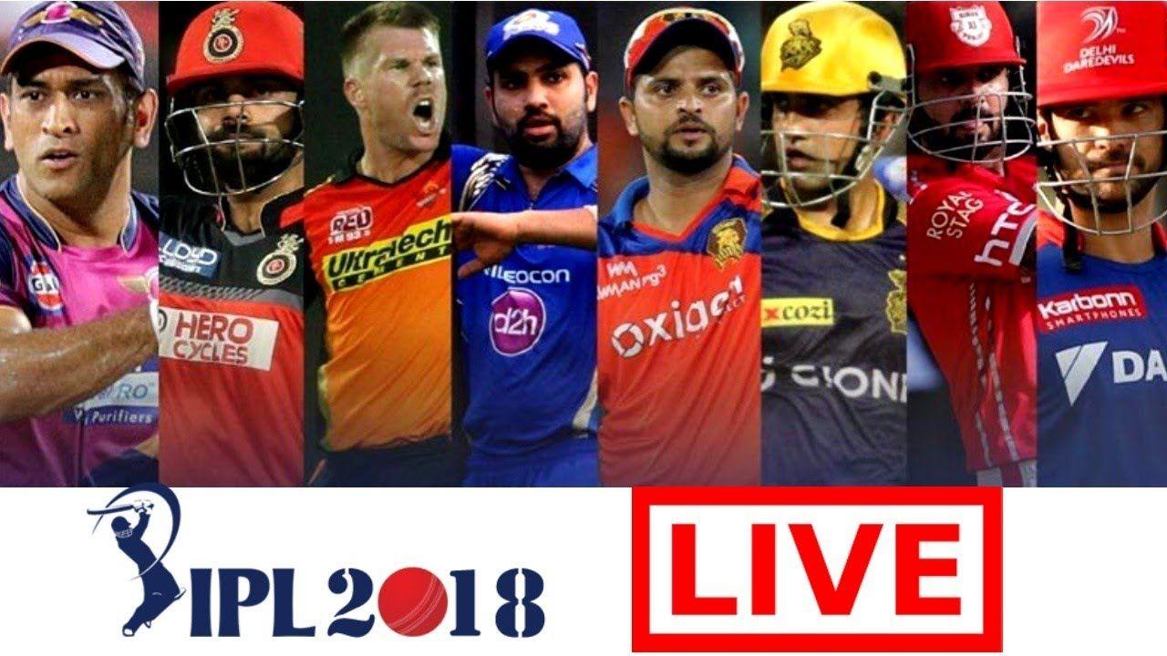 Watch live streaming of every IPLMatch in Vivo IPL 2018