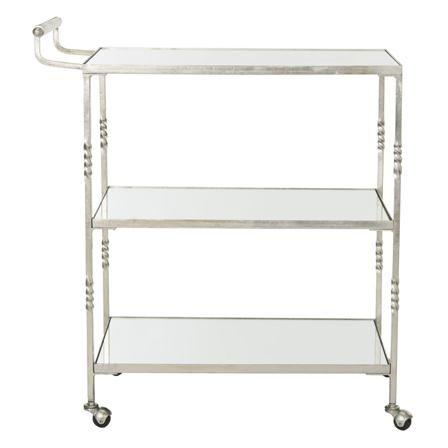 Addison Bar Cart, Silver