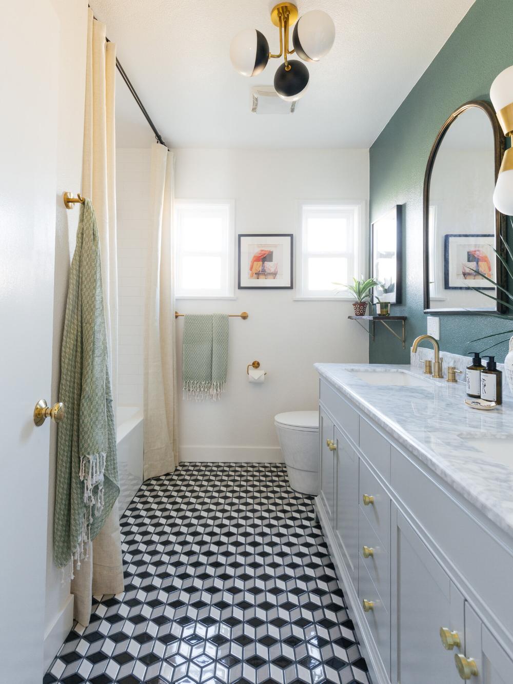Ad Bold Prism Porcelain Mosaic Tiles From Flooranddecor Stylish Bathroom Bathrooms Remodel Art Deco Bathroom