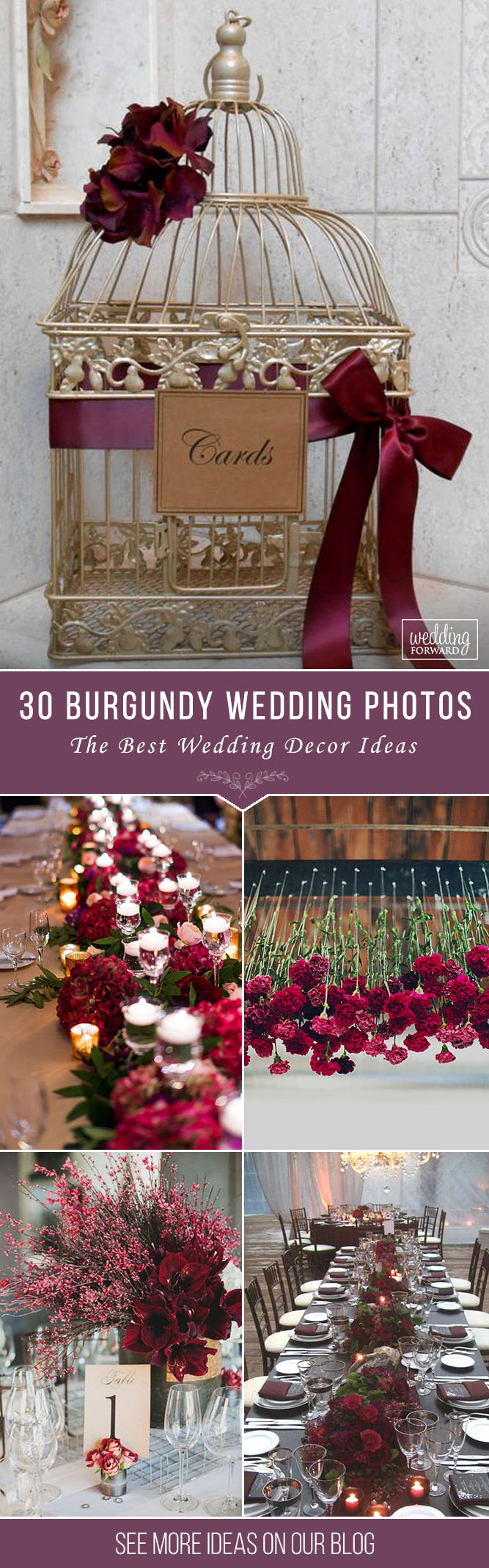 Wedding decoration ideas burgundy  Burgundy Wedding  Best Ideas For Fall Wedding   Burgundy