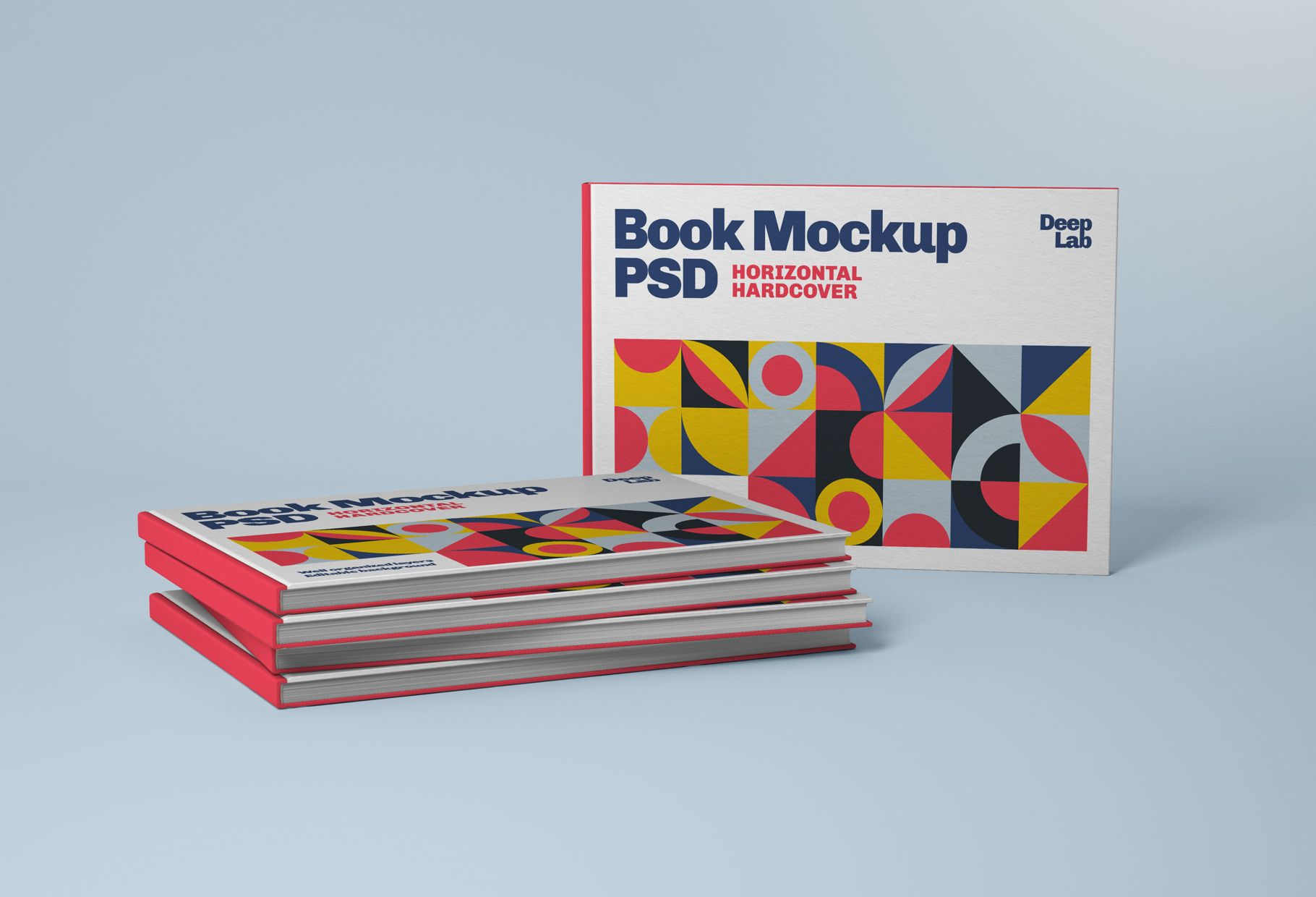 Horizontal Book Cover Mockup Set in 2020 Book cover