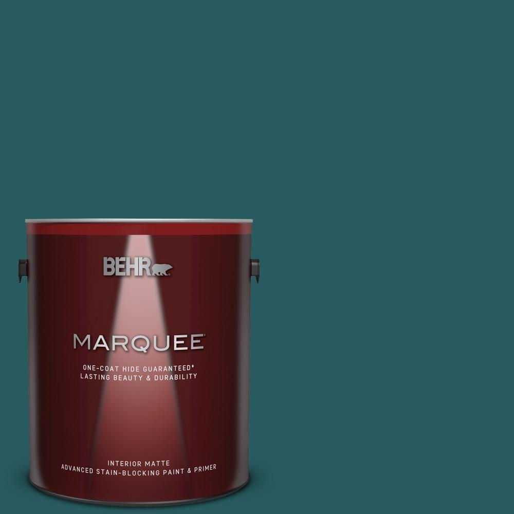 Behr Premium 1 Gal T 500 Natural Clear Transparent: BEHR MARQUEE 1 Gal. #S-H-500 Realm Matte Interior Paint