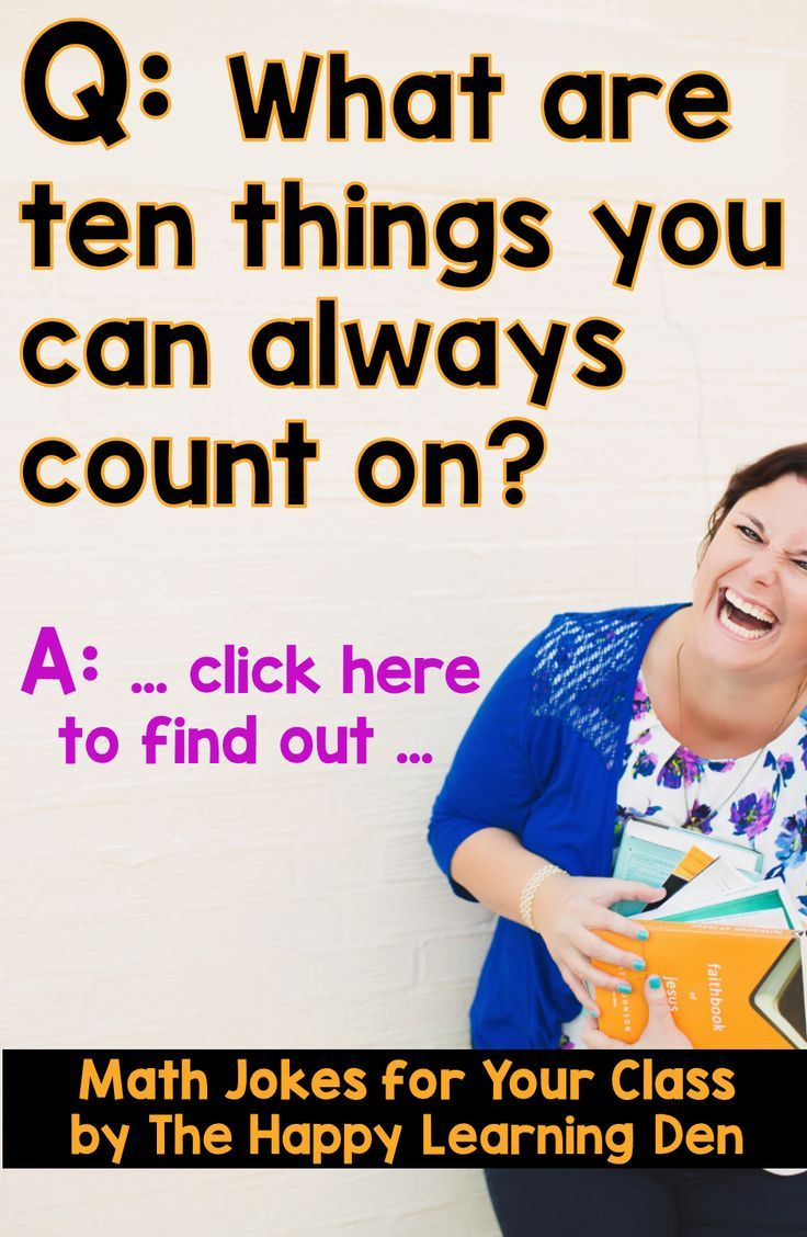 Need more giggles instead of groans in math? Take a look at this blog post with 5 super corny, cheesy, giggle-worthy math jokes. Perfect for students in 3rd, 4th, and 5th grades! Homeschool too! Click here to read the jokes and then try them out with your students! #thehappylearningden #math #jokes