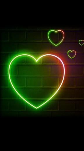 Neon Glowing Heart Animation Video Effect