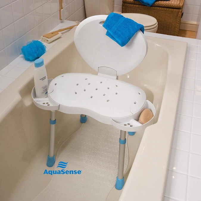 Drive Medical White Plastic Freestanding Shower Chair