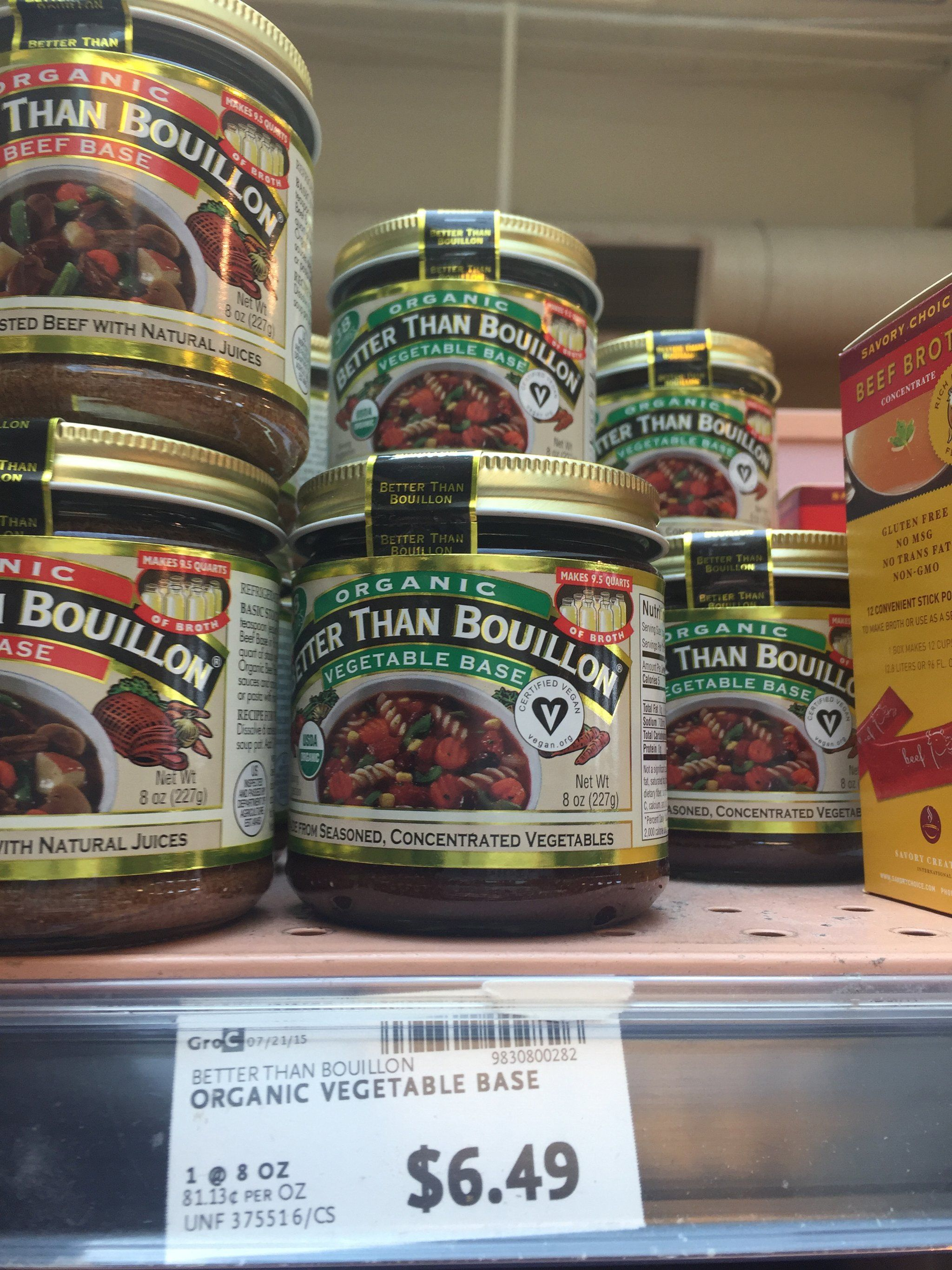 Best whole foods product better than bouillon organic