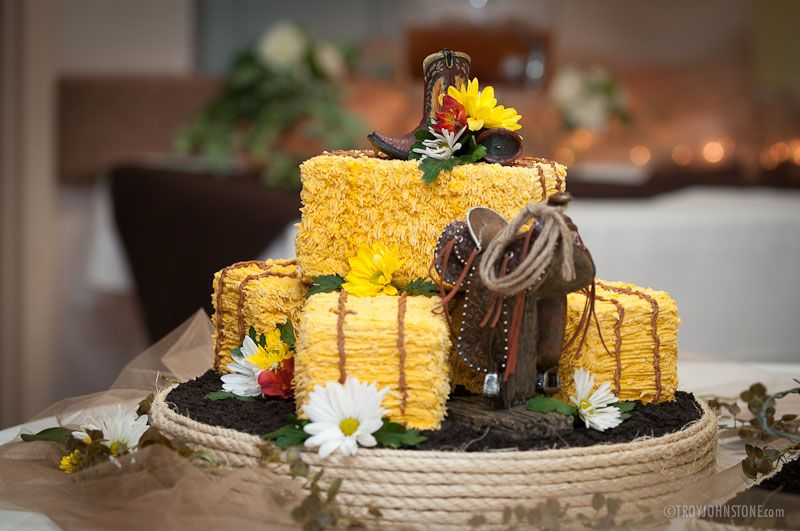 Wedding Cake - Western Theme Wedding