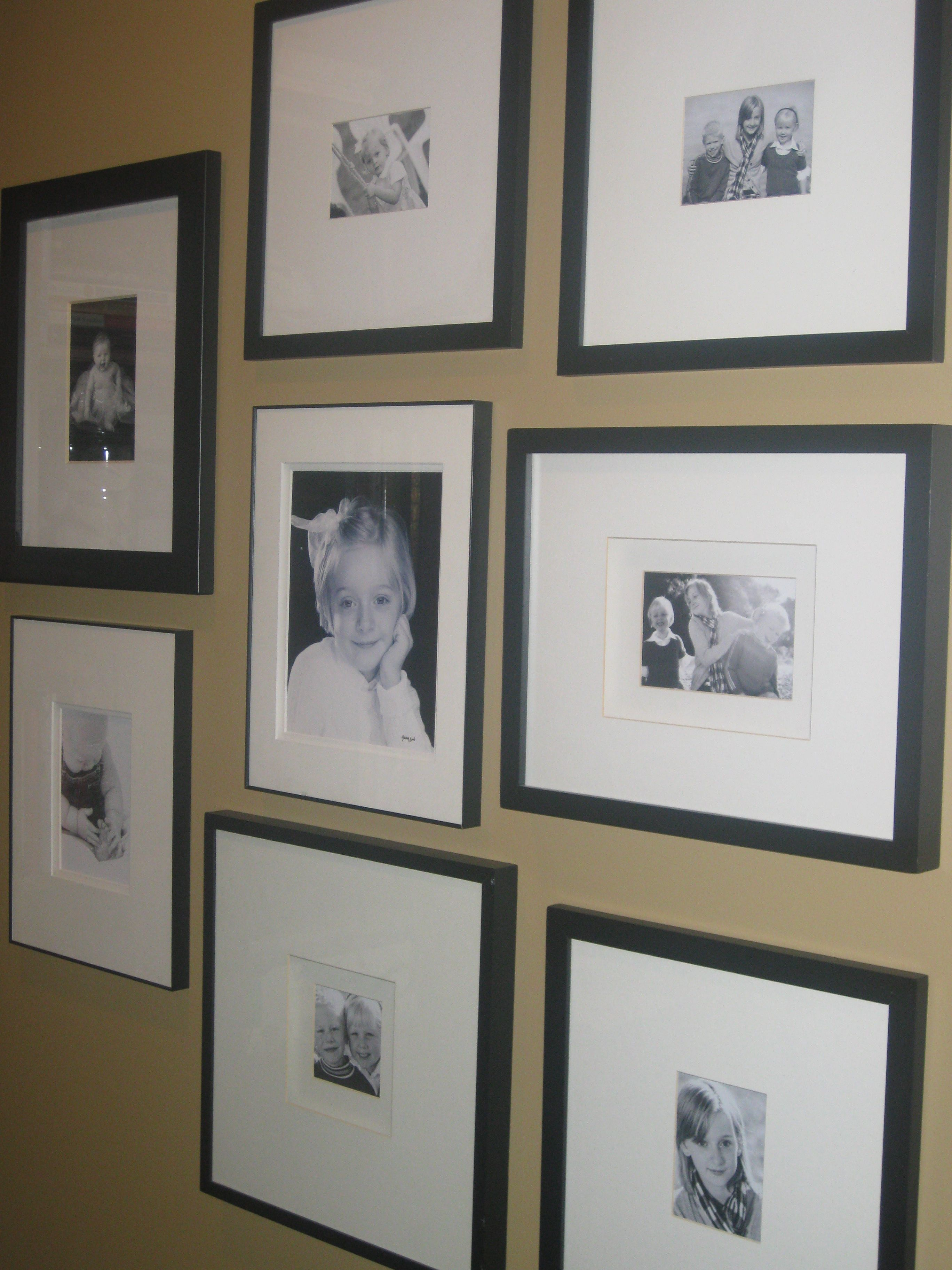 A wall of family pics keeps great memories alive. I love a 5x7 in a ...