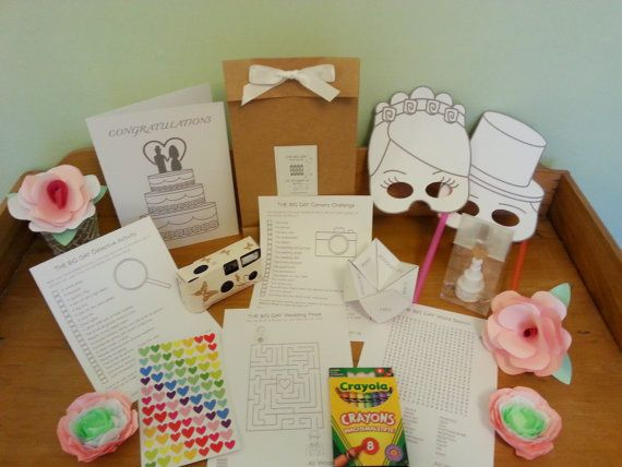Kids Wedding Gifts: Children's Wedding Busy Bag, With Customisable Activities