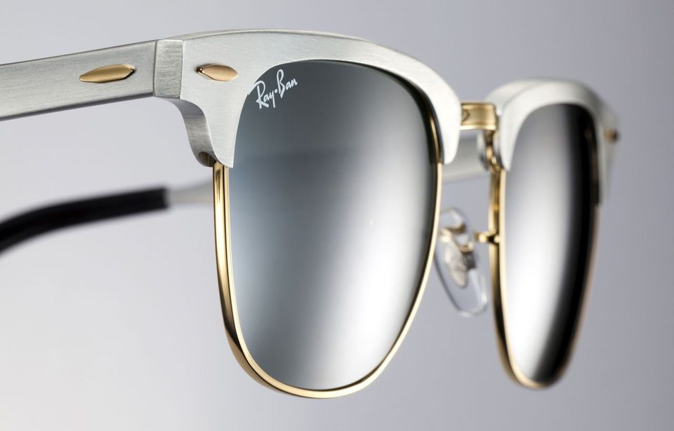 Ray-Ban ALUMINIUM CLUBMASTER Brushed Silver Gold Sunglasses RB 3507 137 40  51 MM 548b5b4c70