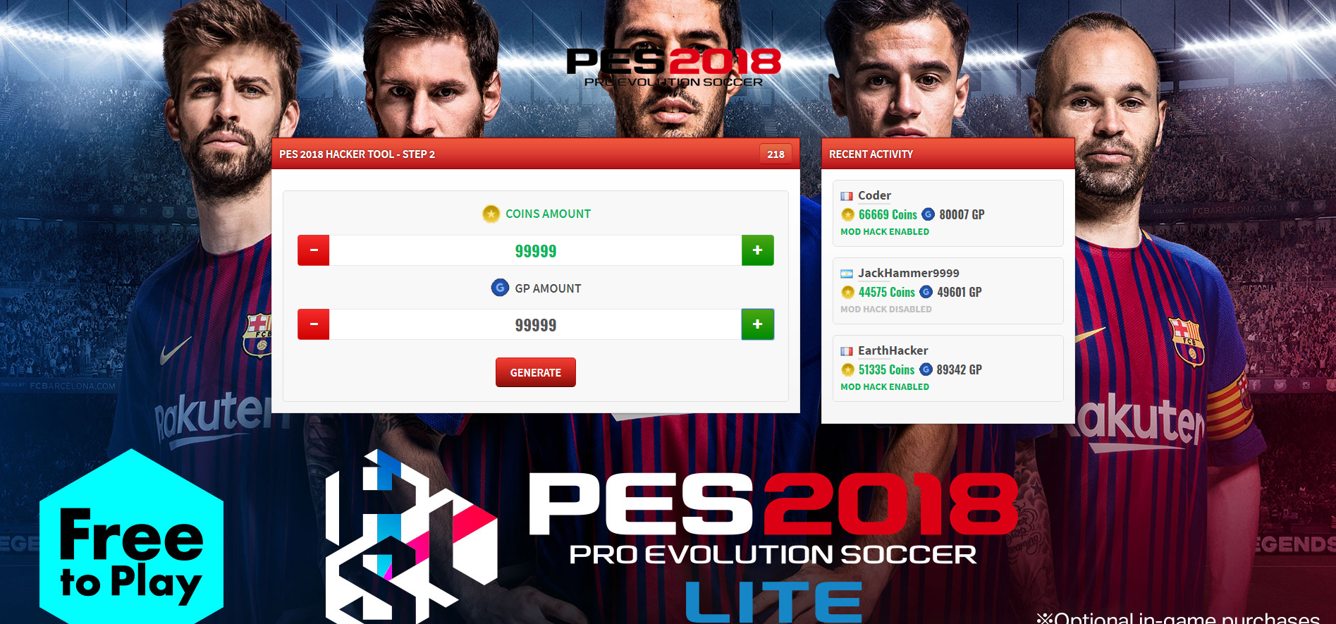 PES 2018 Pro Evolution Soccer Hack - Best cheats to get free