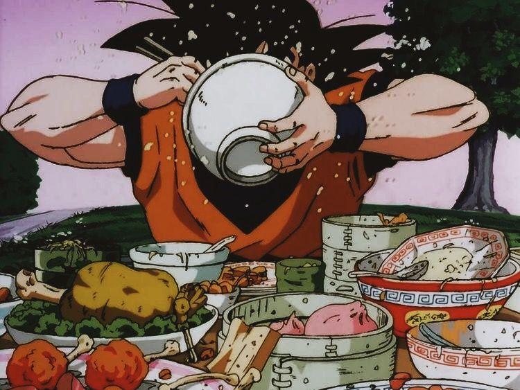 Just A Bunch Of Ramen Gifs Dragon Ball Anime Goku