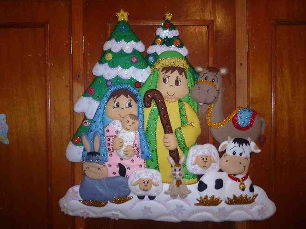 Fotos Del Nacimiento De Navidad.Nacimiento Navidad Bucilla Navidad Adorno Puerta Navidad