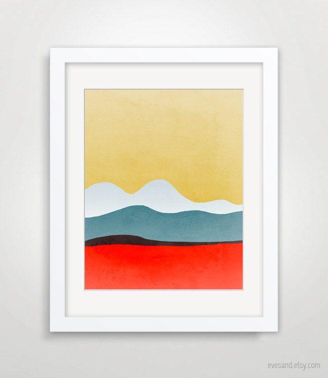 Wall Art Print, Mid Century Modern Art, Abstract Art, Abstract ...