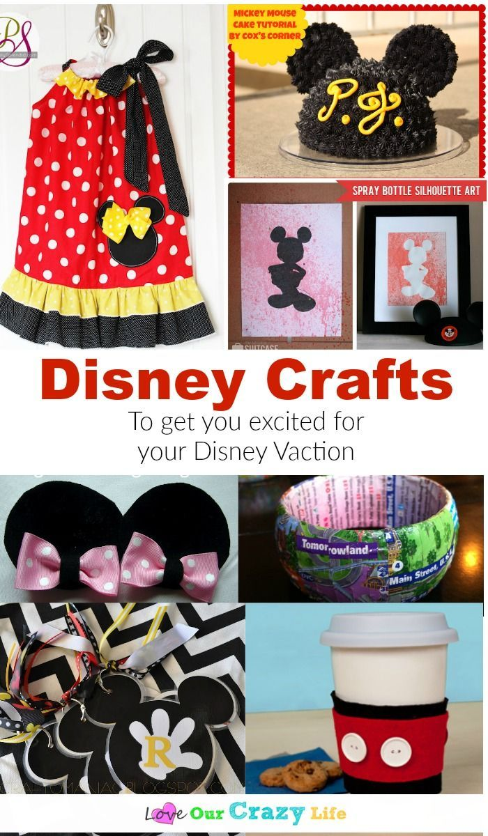 These Disney Craft Ideas Are Perfect To Get You Excited For A Trip Or Just Add A Little Disney Magic To Disney Diy Crafts Disney Crafts Disney Crafts For Kids