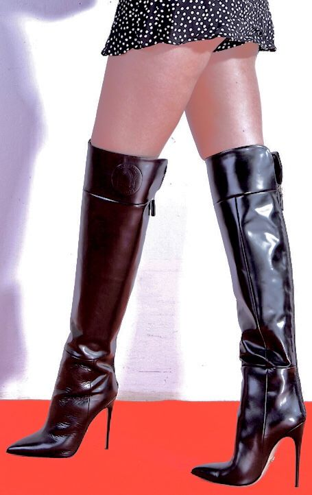 Pin by Jos on Most   Boots, Thigh high boots heels, Brown