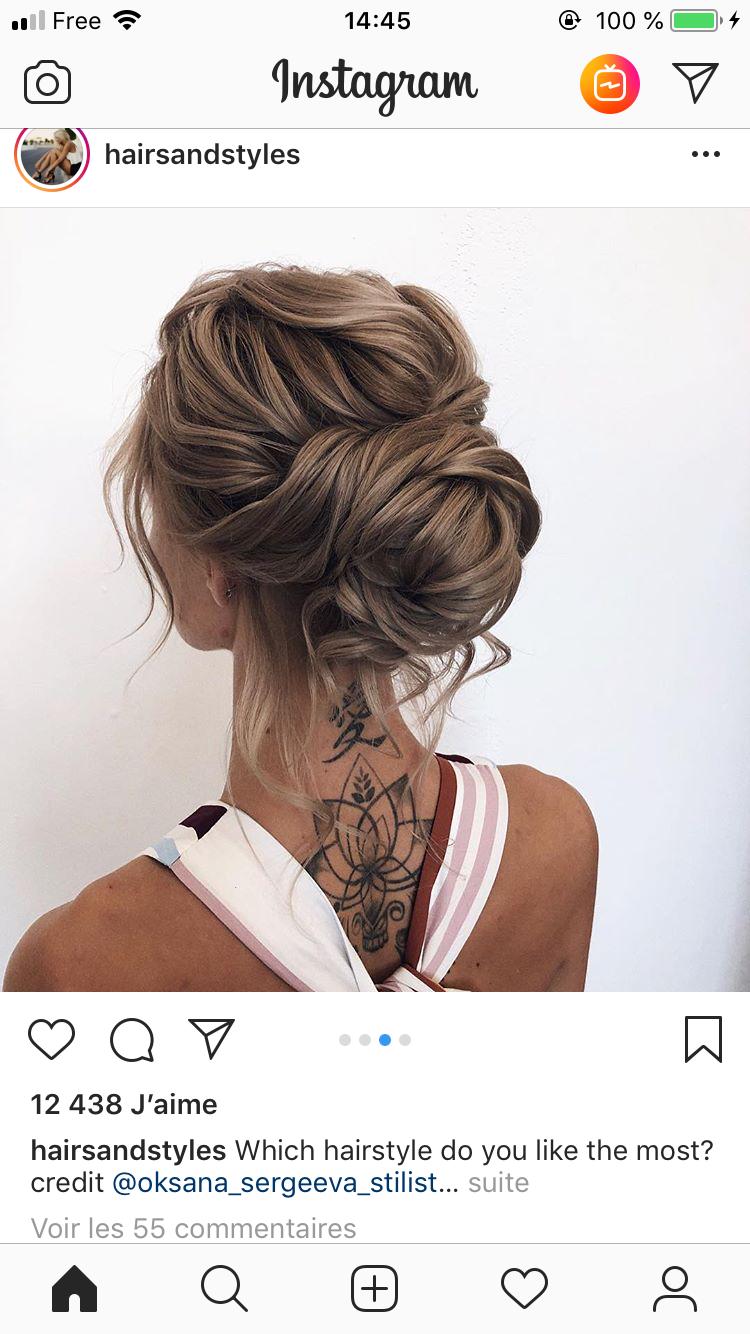Epingle Par Kenna Clark Sur Tatouage Coiffure Mariee Coiffure Cheveux