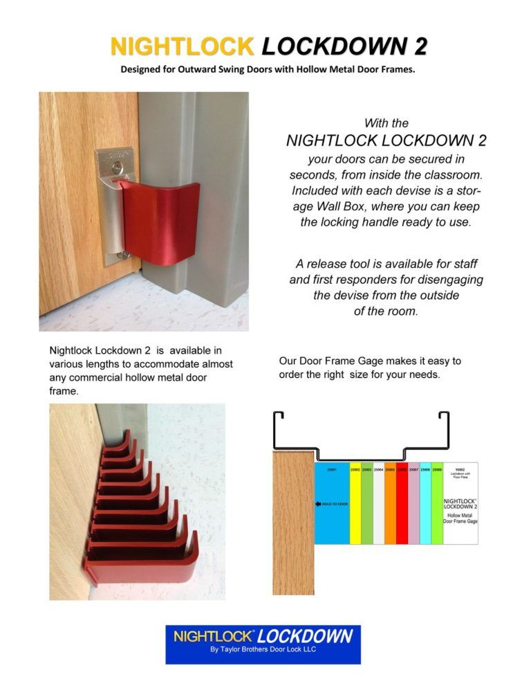 Nightlock Lockdown 2 Door Barricade For Schools Office Hollow Metal Doors Door Security Devices Metal Door