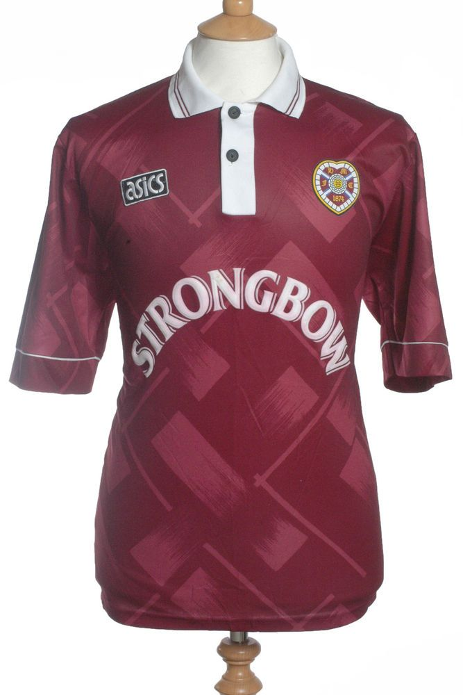 low priced d1072 1997f Hearts of Midlothian, 1993/94, Home Shirt (Pre-Owned) L ...