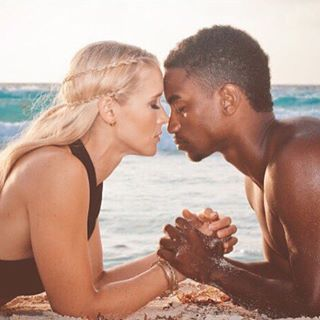 interracial White girl black