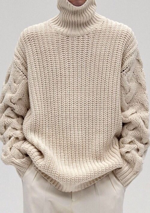 Cable knit on sleeves | вязание | Pinterest | Chalecos hombre ...