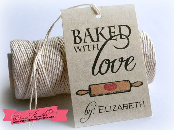 Baked with love printable gift tags diy vintage christmas tags baked with love printable gift tags diy vintage shower tags personalized baking food favors cookie exchange tags by event printables negle Gallery