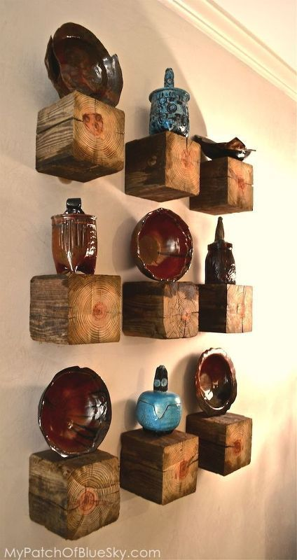 1 Post = 9 Rustic Elegant Shelves
