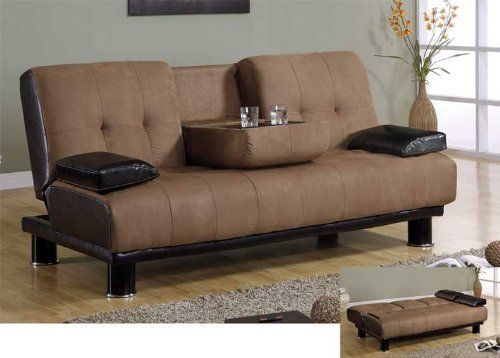 New Micro Fiber Adjustable Futon Sofa Bed, #BM JF342 By UTM. $464.00
