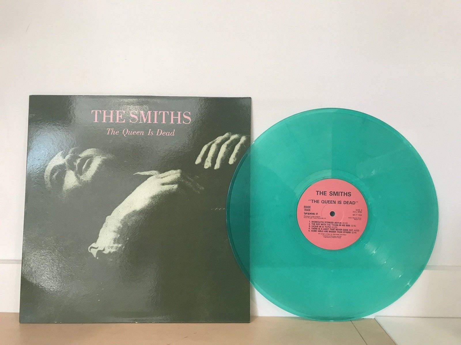 The Smiths The Queen Is Dead Like New Green Colored Vinyl Lp Record Vinyl Records The Queen Is Dead New Vinyl Records