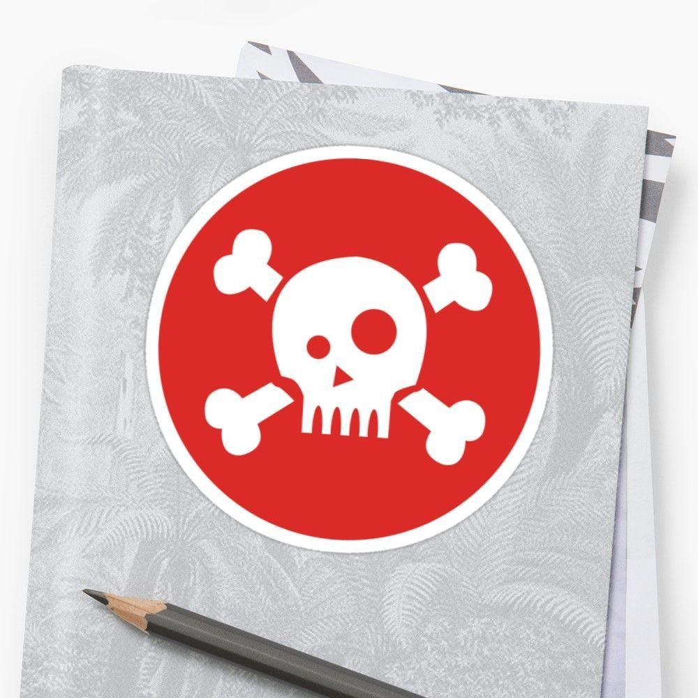 Crazy Skull Sticker by vanessavolk Illustration of Skull in red background Crazy skull Icon skull Sticker sticker stationery planner