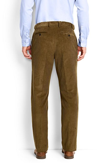 Men's Comfort Waist 10-wale Corduroy Trousers from Lands' End ...