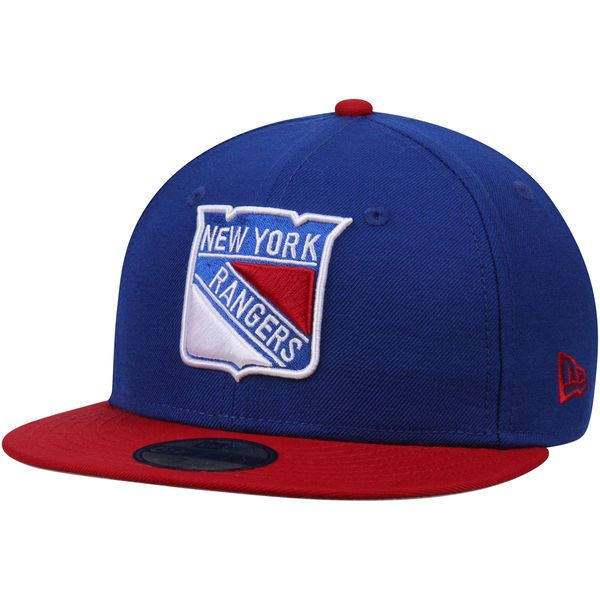 4424f685700 New York Rangers New Era 2-Tone 59FIFTY Fitted Hat - Blue Red ...