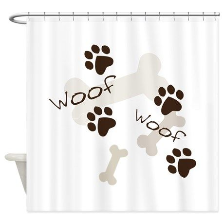Woof Woof Shower Curtain By Windmill Shower Curtain Curtains