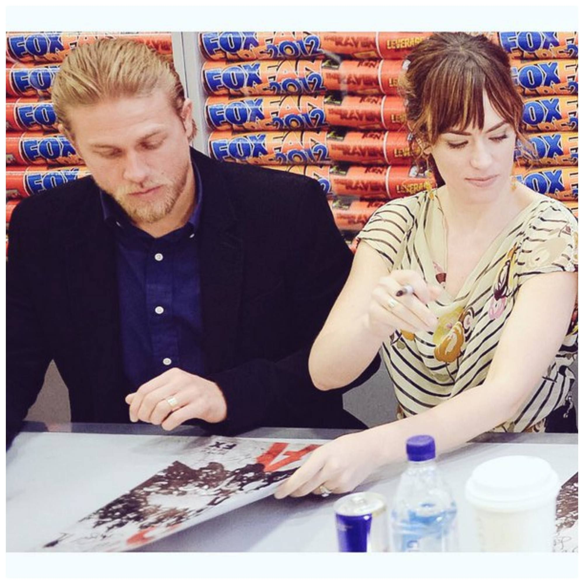 Charlie and Maggie Siff at an SOA event