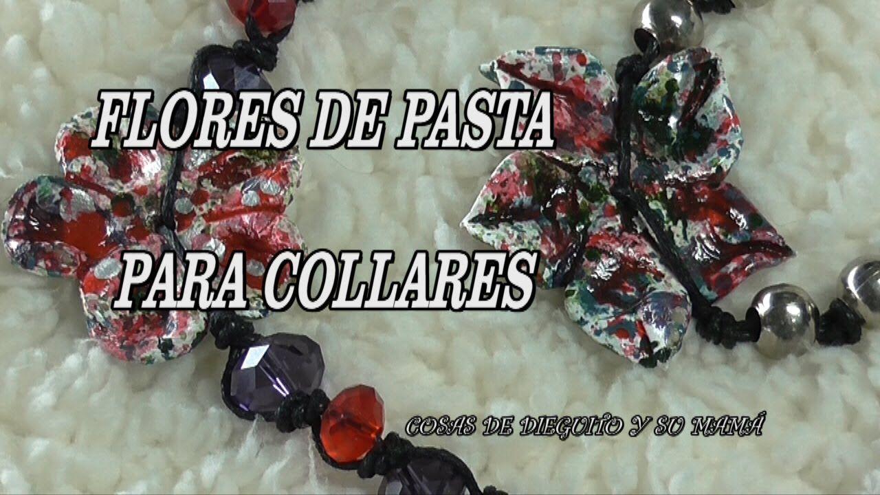 DIY HACER FLORES DE PASTA PARA COLLARES Y PULSERAS