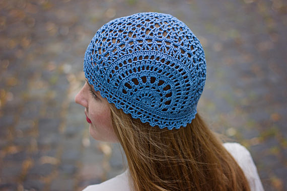 Crochet Summer Hat Pattern PDF - Unique Handmade Scheme For Lace Crochet Hat  - Chemo Hat Graph Patte de0fbfda4cf