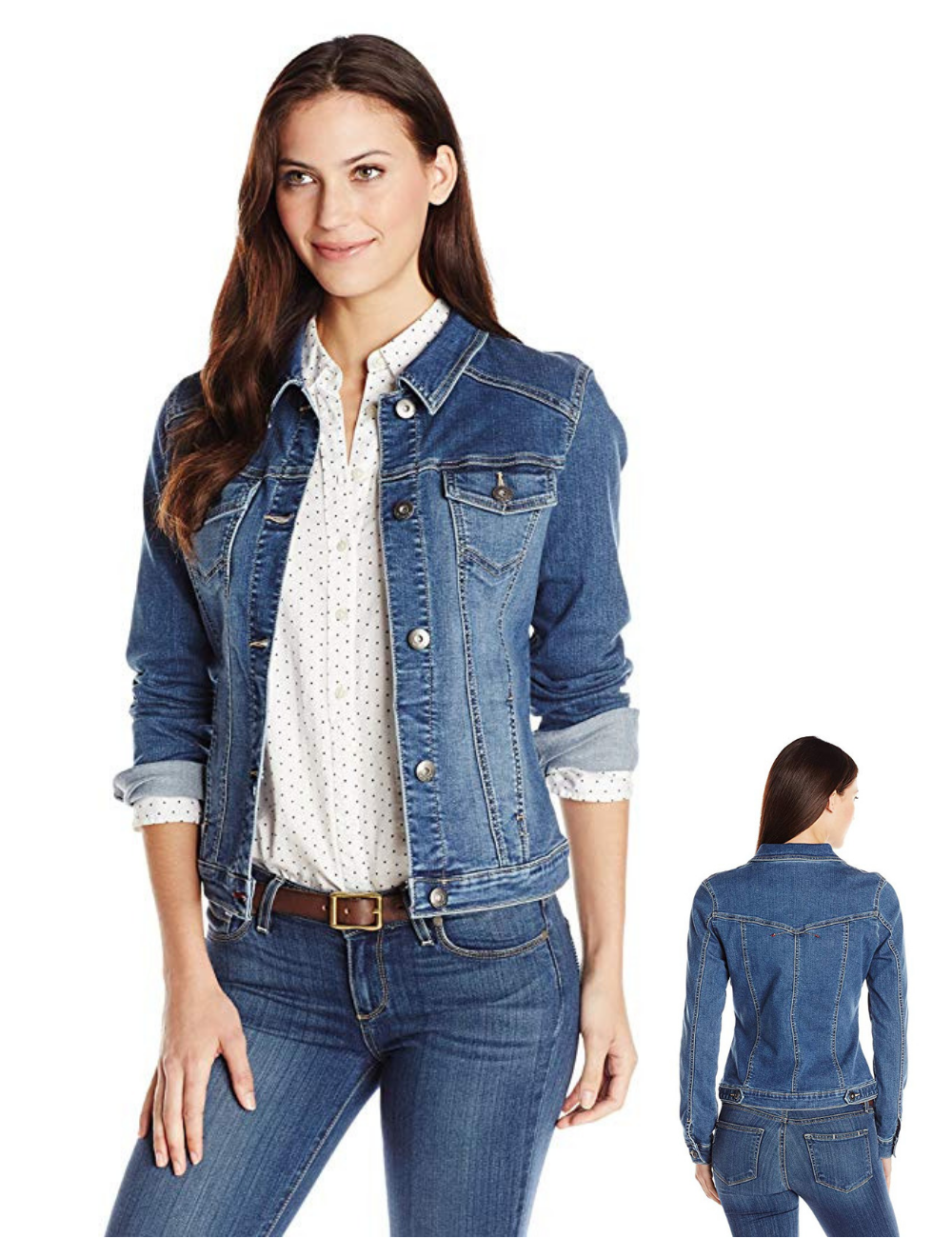 Wrangler Authentics Women S Denim Jacket Streetwear Styling Street Style Denim Jacket Women Denim Women Jackets [ 1300 x 1000 Pixel ]