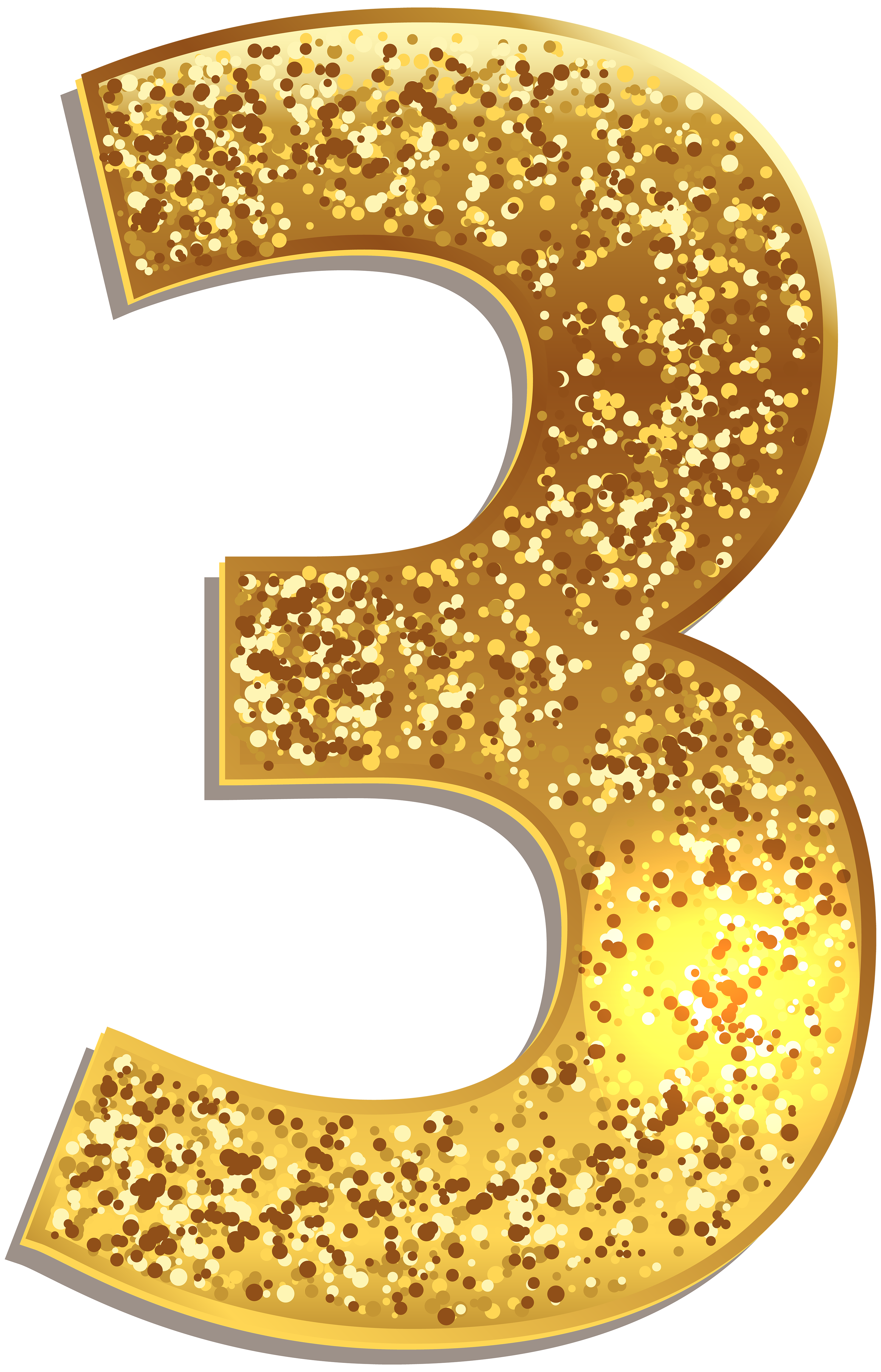 Https Gallery Yopriceville Com Free Clipart Pictures Decorative Numbers Number Three Gold Shining Png Clip Clip Art Birthday Banner Free Printable Art Images