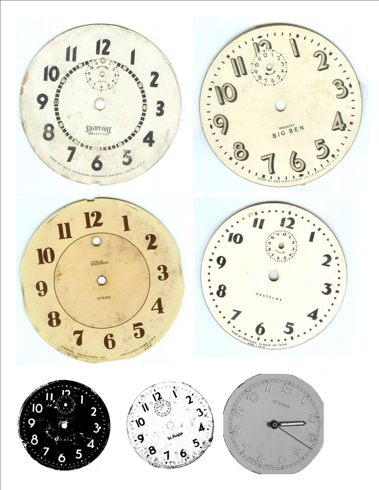 graphic about Printable Clock Faces for Crafts identified as Printable clock faces - shabby stylish your personal! wedding day
