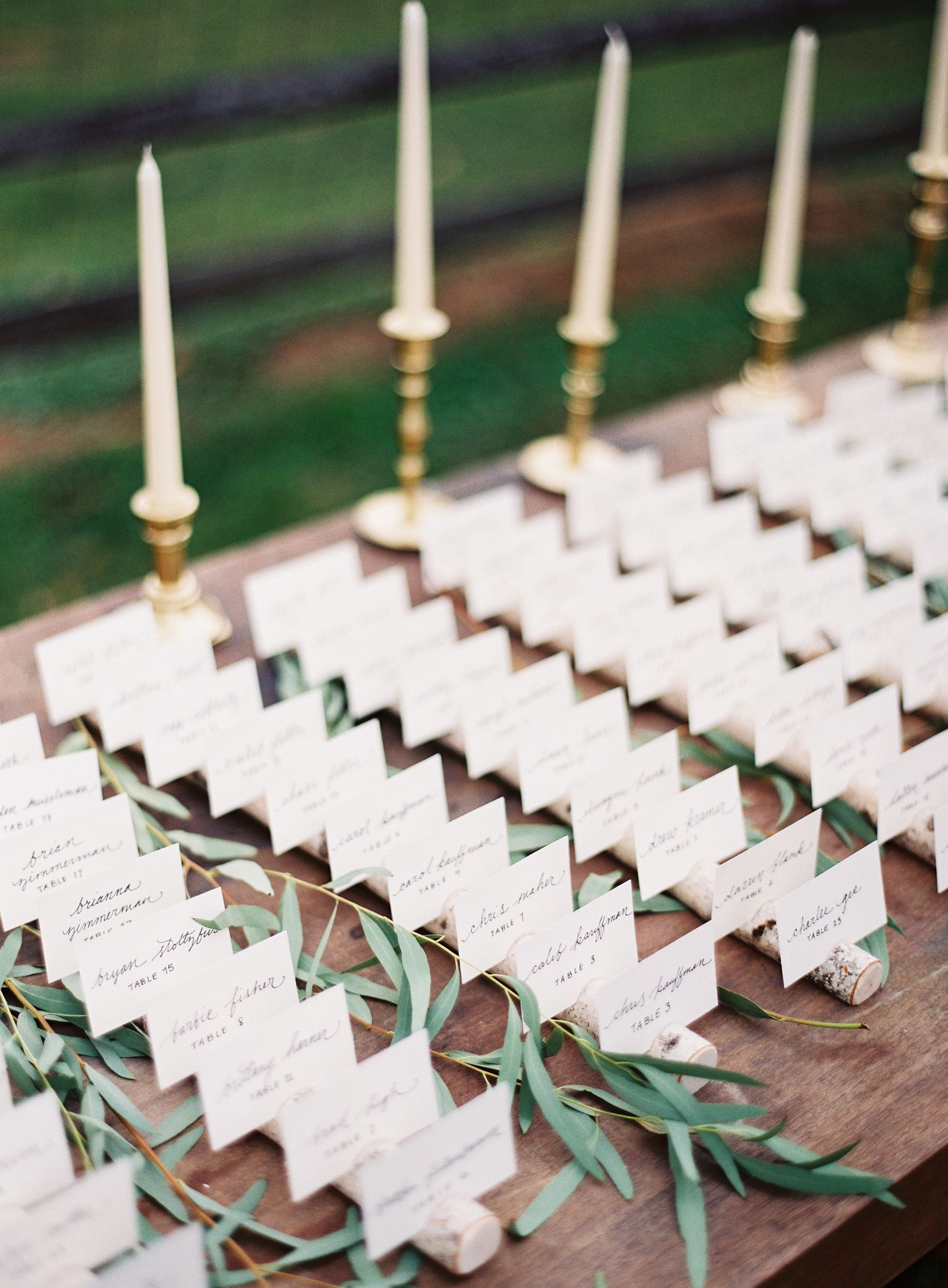 Gallery Inspiration Picture 2406357 Style Me Pretty Alfresco Wedding Card Table Wedding Wedding Place Cards