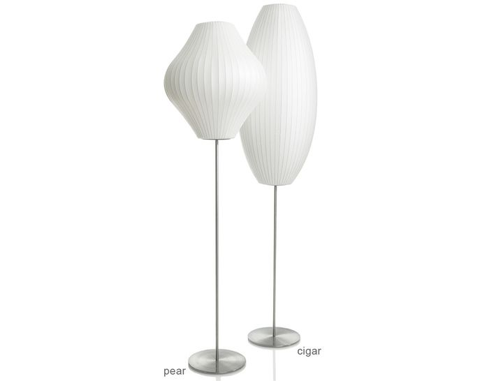 Nelson Cigar Bubble Floor Lamp On Lotus Stand Floor Lamp Nelson Bubble Lamp Bubble Lamps