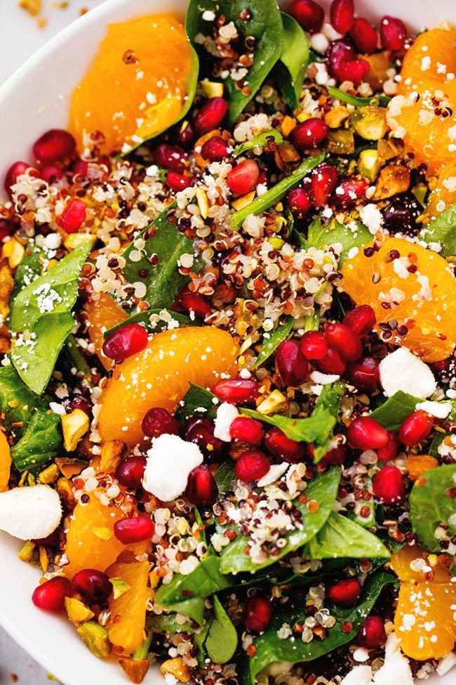 Photo of Winter pomegranate-orange-quinoa salad with creamy lemon-greek yoghurt treatment – recipes de