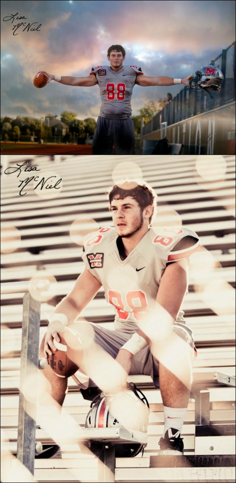 Flower Mound Marcus Senior Pictures of Football player by