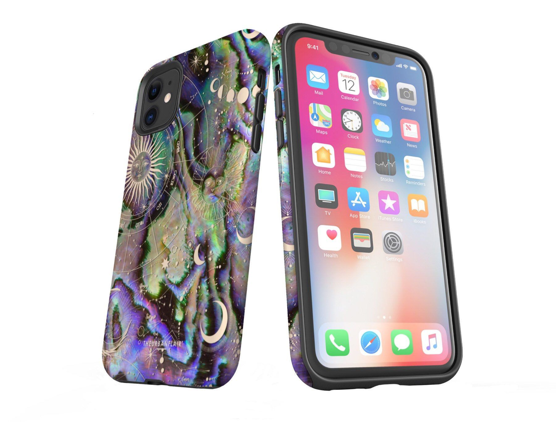 Zodiac abalone design phone case for iphone 11 pro max xr