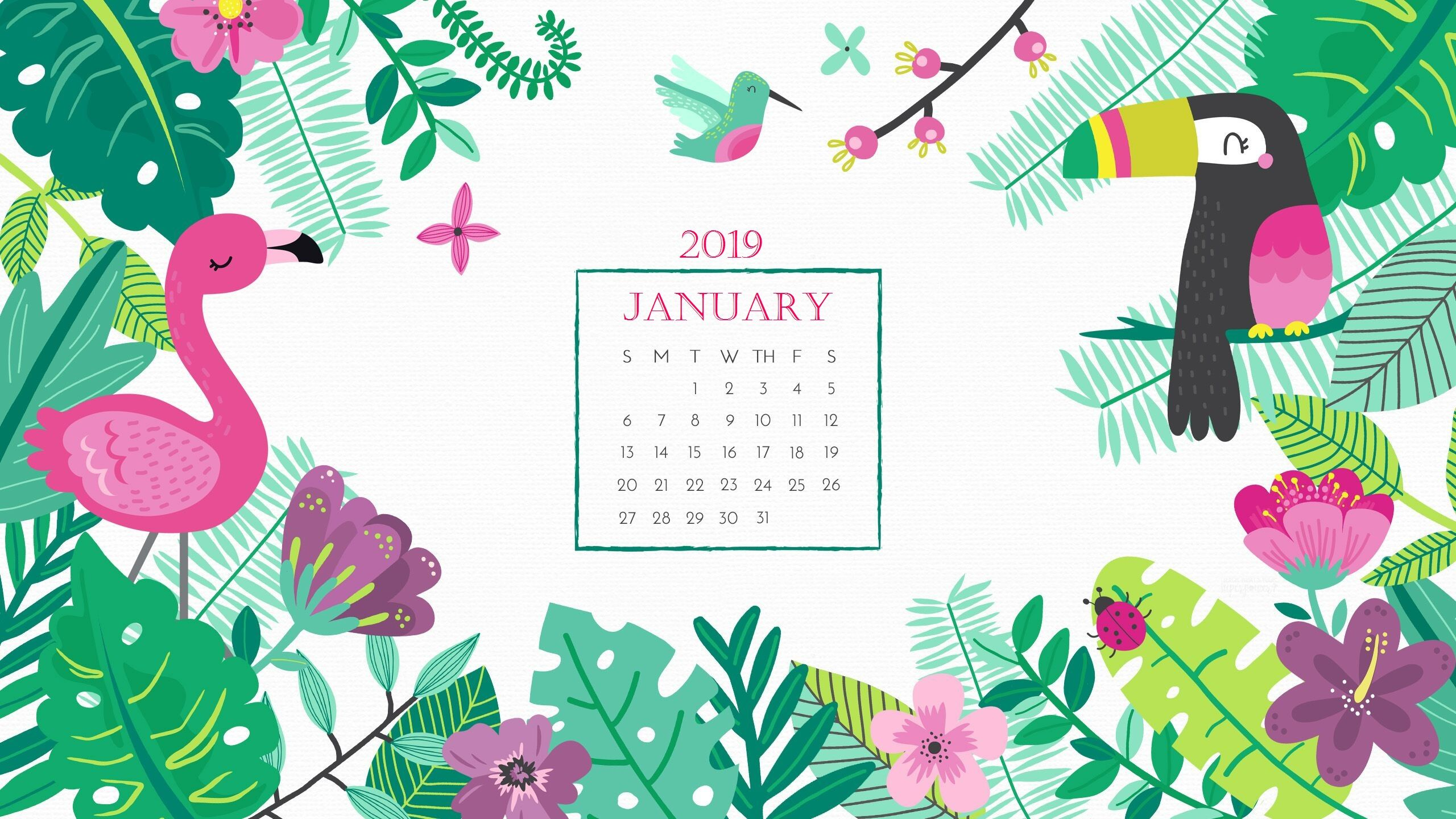 January 2019 Wallpaper With Calendar For Desktop