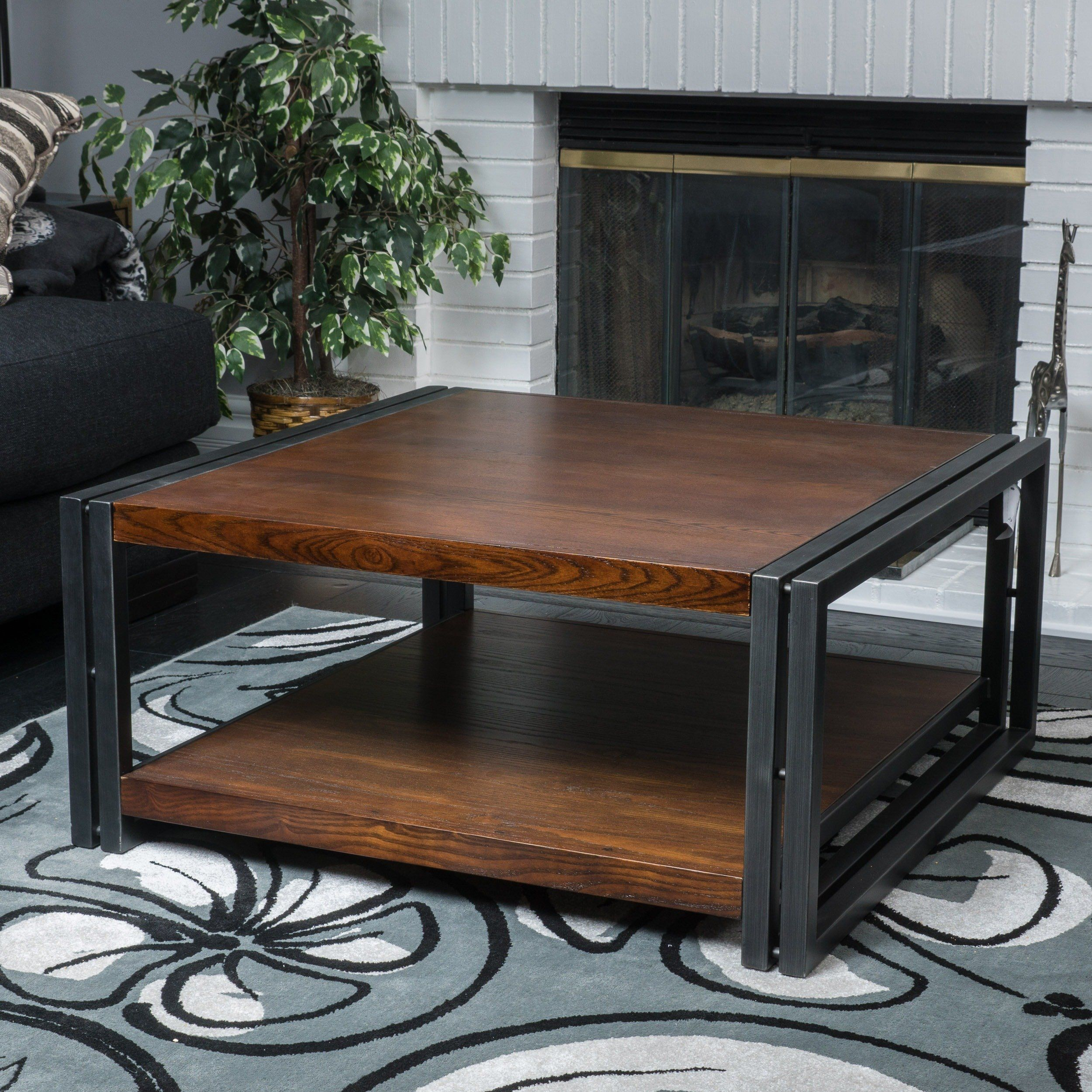Contemporary Modern Mayfair Dark Oak Wood Coffee Table 296327