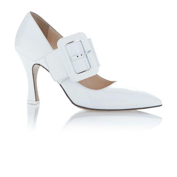 Attico Elsa White Vinyl Pump 765 Liked On Polyvore Featuring Shoes Pumps Attico Heels White Strappy He White Shoes Heels White Court Shoes Vinyl Shoe