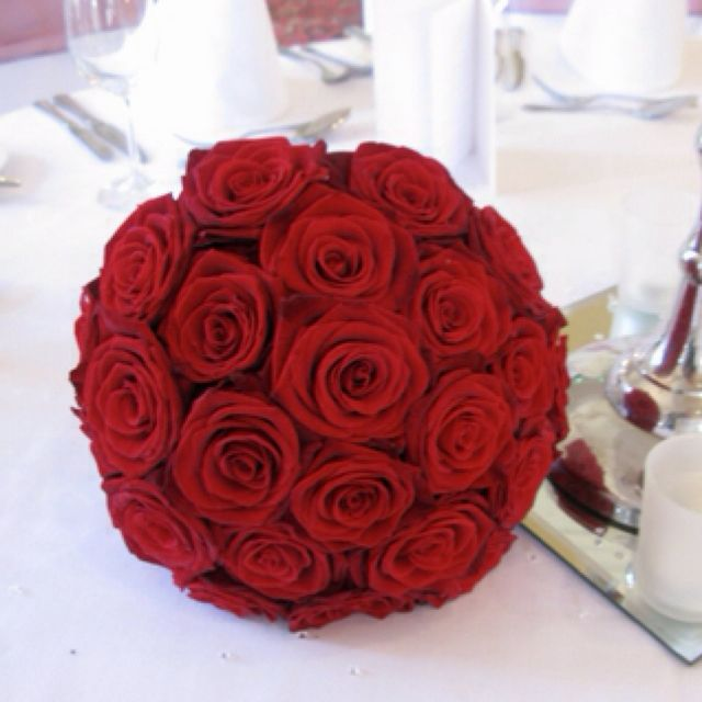 Blood red rose bouquet