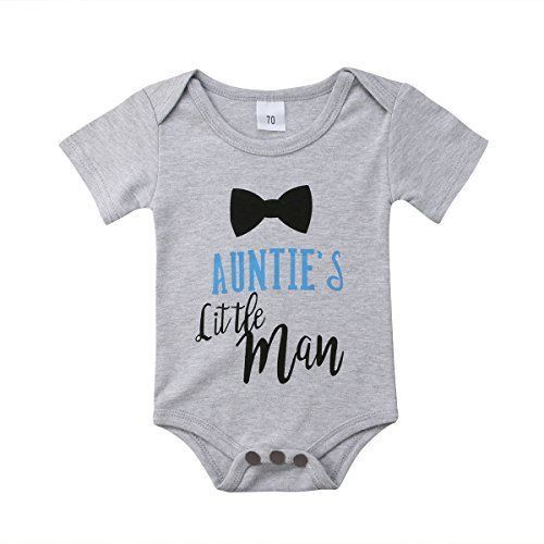 c4ec17313 Infants Baby Boy Auntie s Little Man Short Sleeve Bodysuits Rompers ...
