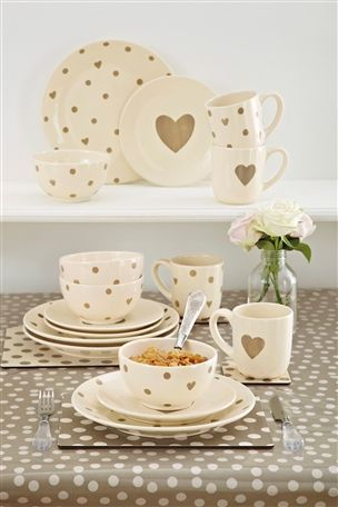 Adore Hearts Hand Painted Dinner Set from the Next UK online shop   Home   Pinterest   Heart hands Dinner sets and Uk online & Adore Hearts Hand Painted Dinner Set from the Next UK online shop ...